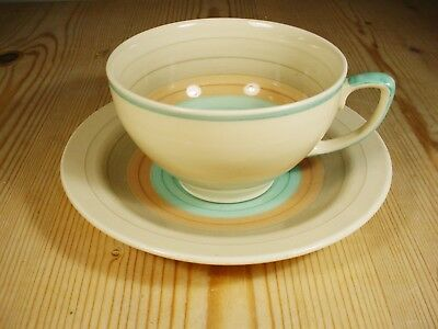 Susie Cooper Wedding Ring Band Green Cup & Saucer