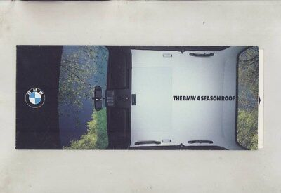 1987 BMW US 4 Season Sun Roof Brochure wz0429