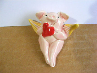 Little Guys Retired Cupid Pig Miniature Animal Figurine Valentine #5