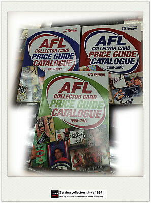 COMBO-AFL COLLECTOR CARD PRICE GUIDE CATALOGUE EDITION (3 + 2 +1) (three books)