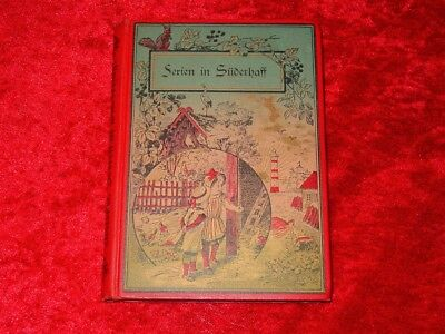 Rare 1903 Children's Book~Ferien in Suderhaff by Averdieck~German~Color Cover