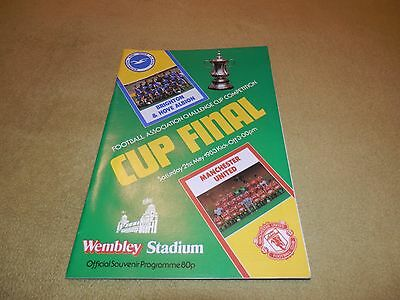 Manchester Utd v Brighton - FA Cup Final in 1983 at Wembley