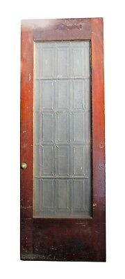 Wooden Door with Leaded Glass Panel