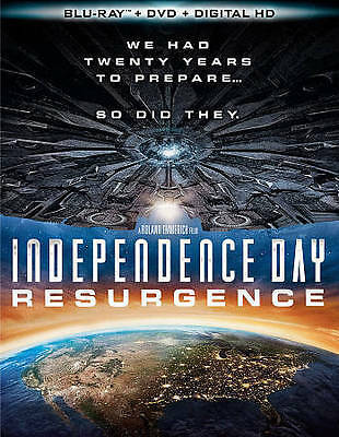 Independence Day: Resurgence (Blu-ray/DVD, 2016, 2-Disc Set) FREE SHIPPING!