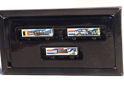 Series A Marklin Z-scale Europa '92 3 car container set, Belgium, Luxembourg