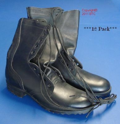 US Army Leather Combat Boots - Genuine US - Wholesale Clearance - 12 Pair Carton