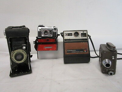 4 Assorted Antique Vintage Film Cameras Lot (690)
