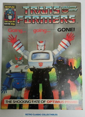 Marvel UK - The Transformers - Comic - No. 78 - 13th Sept. 1986