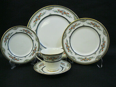 Minton China STANWOOD~(1)~ GOLD TRIM~5 Piece Place Setting~ EXCELLENT