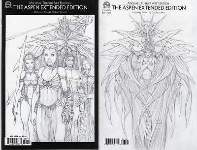 Michael Turner Art Edition Aspen Extended #1 Cover A and B NM (2016) Lot of 2