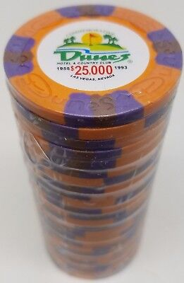 Poker Chips (25) $25,000 Dunes Commemorative 9 gr. Clay Composite
