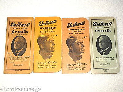 Vintage Carhartt Advertising Promotional Note Pads