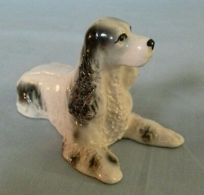Vintage Porcelain Ceramic Pretty Little Spaghetti Pottery Spaniel Dog Figurine