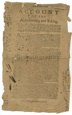 """18th Century Apprehension Order (un-dated) """"A Notorious Gang of Irishmen..."""