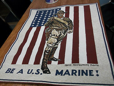 James Montgomery Flag  Be A U.s. Marine Pure Country Weavers Jacquard Woven Flag