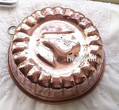 Antique copper mold Victorian lovely kitchenalia baking Sweden 1886 pear pattern