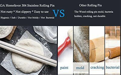 "Stainless Steel Rolling Pin for Fondant, Pie Crust, Pizza Cookie (15.75"" ) in AU"