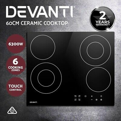 Devanti Induction Cooktop Portable Cooker Ceramic Cook Top Electric Kitchen Hob