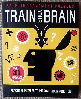 Train Your Brain: Practical Puzzles to Improve Brain Function New Paperback Book