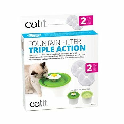 Catit Senses Water Fountain Triple Action Filters, Pack of 2
