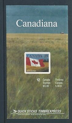 Canada Booklet 1990 'Quick Sticks' Flag #BK114a MNH ** Free Shipping **