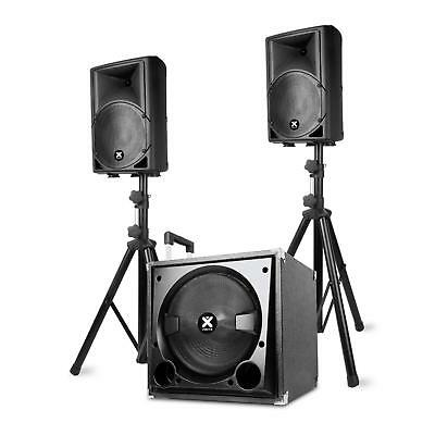 Set enceinte active Systeme sono DJ 2.1 Bluetooth 800W + Subwoofer Micro & Pieds