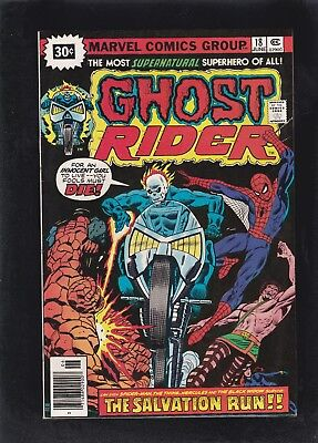Ghost Rider #18 Very HTF 30 Cent Price Variant! Spider-Man & Thing Appearance!