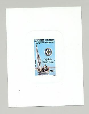 Djibouti #C182 Rotary, Sailing Boat on 1v Deluxe Sheet