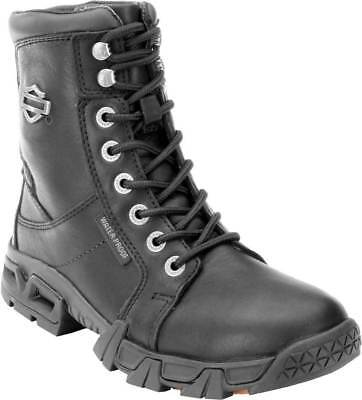 7cde077a92bc 87054 Harley-Davidson Women s Elaine Waterproof Black Motorcycle Boots Size  9