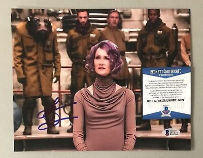 Laura Dern Signed 8x10 STAR WARS The Last Jedi Photo BAS WITNESSED COA