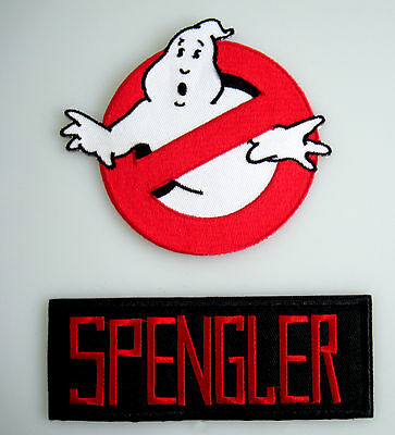 Ghostbusters - No Ghost + SPENGLER - Uniform Kostüm Patch - Aufnäher Set - neu