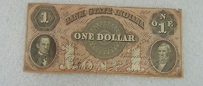$1 The Bank State of Indiana July 1, 1857