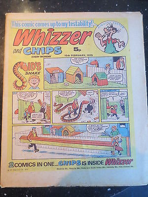 Whizzer and Chips Vintage Old UK Paper COMIC 15 February 1975 Birthday Gift