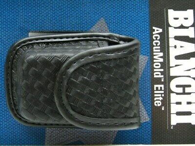 Bianchi Black 7915 Basketweave Accumold Elite  Pager & Glove Holder 22115