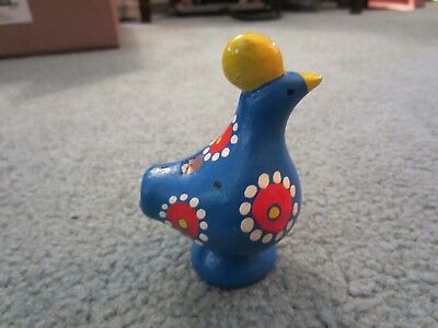 Vintage Ceramic Bird Whistle Made In Finland Hand Made