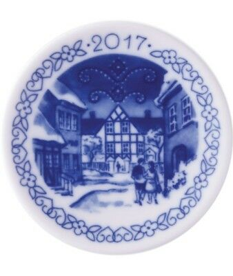 "Royal Copenhagen 2017 Christmas Plaquette  ""Hotel Kirstine""   MINT NEW IN BOX"