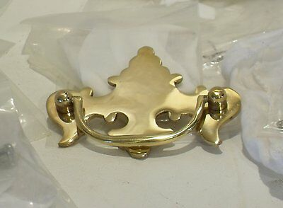 Lot of 10 Heavy Brass Dresses Drawer Pulls   N.O.S. High Quality Hardware !  #52