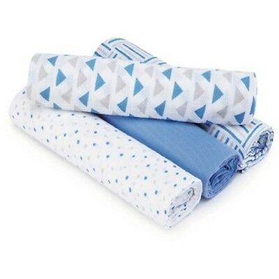 NEW Aden by Aden + Anais Swaddle - Blue - 4-Pack