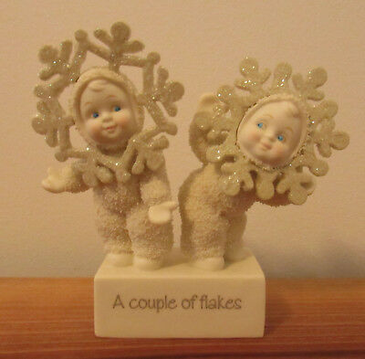 Department 56 SNOWBUNNIES Figurine ~ A Couple of Flakes