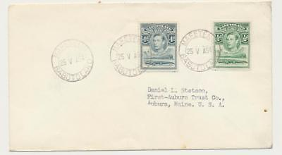 BASUTOLAND -USA 1954, MAFETENG CDS ON COVER TO AUBURN, 4½d RATE(SEE BELOW