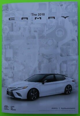 2018 Toyota Camry 3D All New Color Sales Brochure Catalog Heart Beating