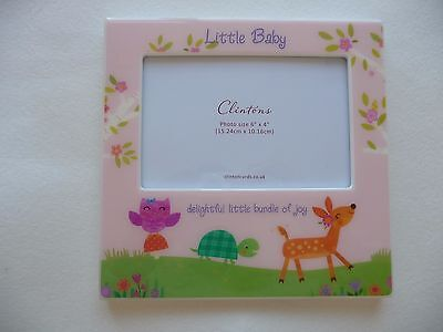 Clintons New & Boxed Photo Frame Woodland Baby Girl Baby Shower Gift