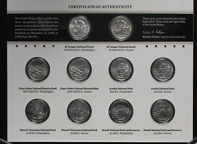 2012 P&D US Mint America the Beautiful Quarters Uncirculated Coin Set