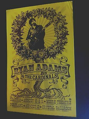 Ryan Adams Cardinals Cold Roses Original 2005 Northwest Concert Tour Gig Poster