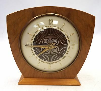 Vintage SMITHS MANTLE / 8 DAY CLOCK Wooden Surround - Working Order - H09