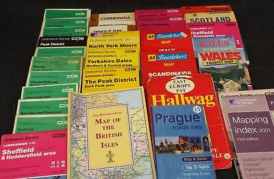 Collection Of 33 Maps Mostly Britain Some Europe Includes Many Vintage - S96