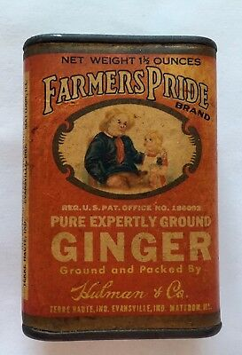 Farmers Pride Ginger Spice Advertising  Tin
