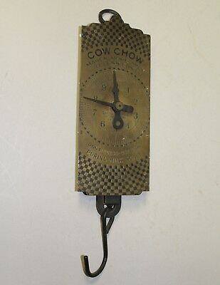 Antique Cow Chow Purina Advertising Milk – Spring Balance Brass Scale
