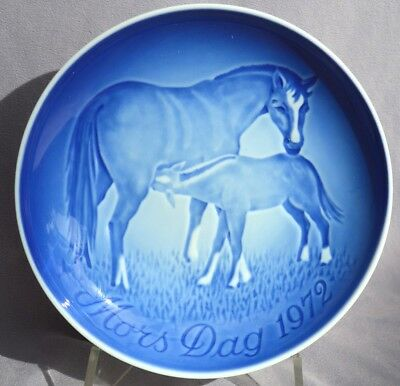 BING & GRONDAHL 1972 Mother's Day Plate Mare Horse with Foal B&G -- Excellent!