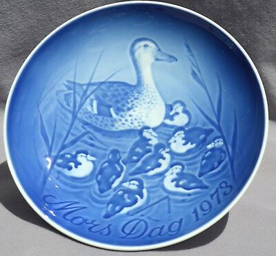 BING & GRONDAHL 1973 Mother's Day Plate Duck with Ducklings B&G Mothers Day